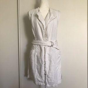 Anthropologie Vest w/Frayed Details & Belt